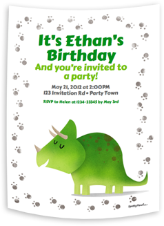 The Dinosaur printable invitation