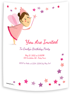 The Fairy printable invitation