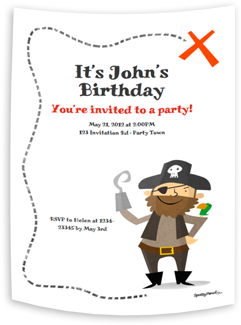 The Pirate printable invitation